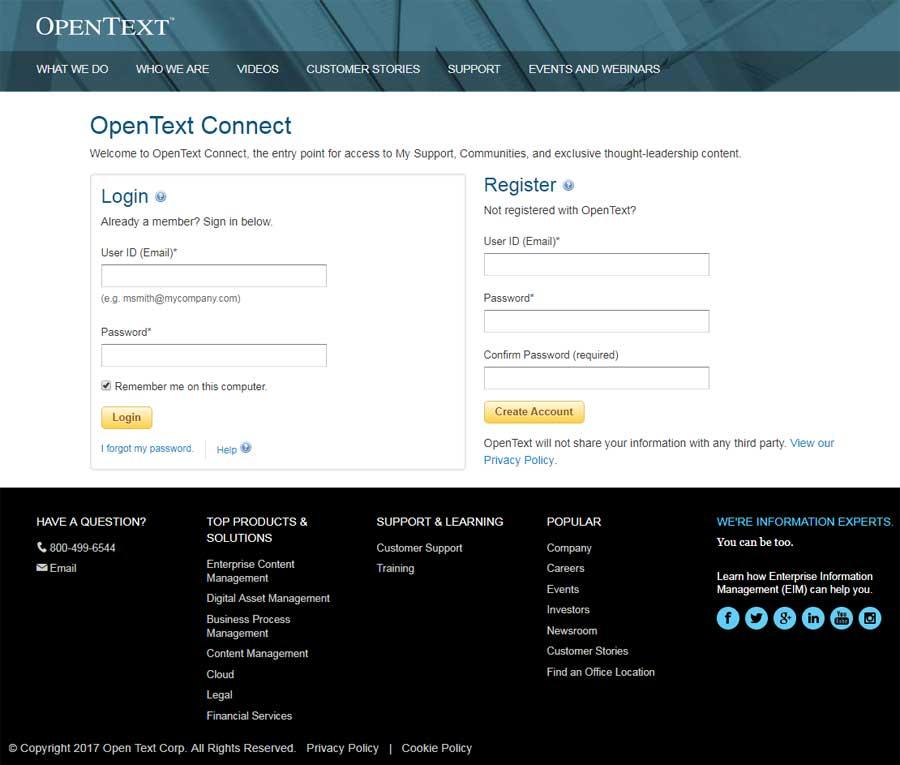 OpenText com Redesign - Rachele DiTullio