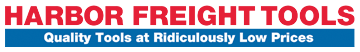 Harbor Freight logo: quality tools at ridiculously low prices