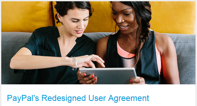 PayPal's Redesigned User Agreement