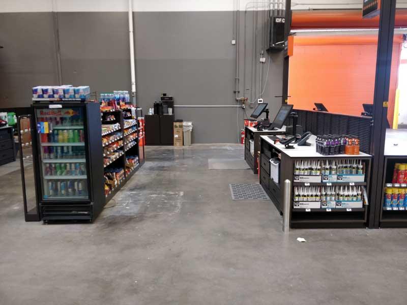 photo of a checkout aisle