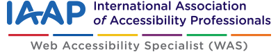 IAAP web accessibility specialist certification logo